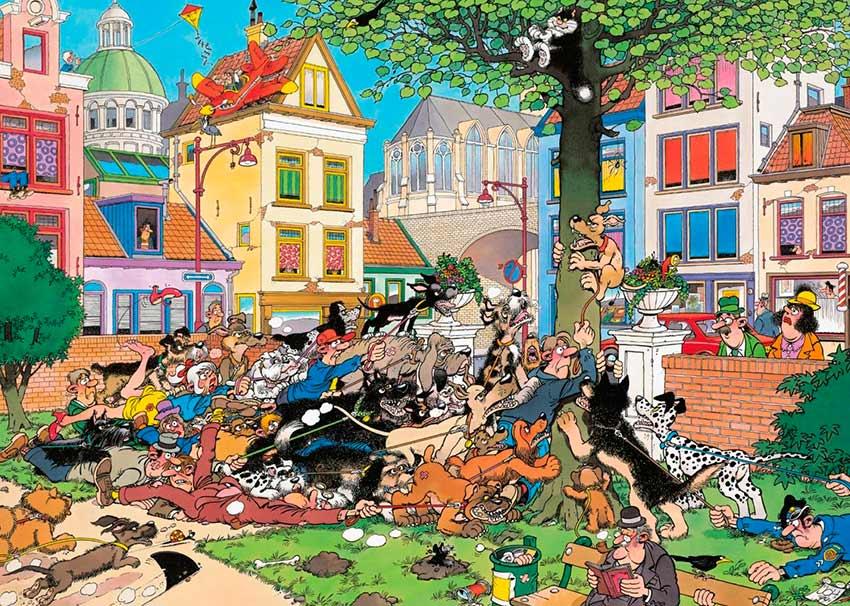 Puzzle Jumbo Atrapa al Gato de 1000 Piezas