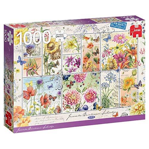 Puzzle Jumbo Colección de Sellos de Flores de Verano de 1000 Pie