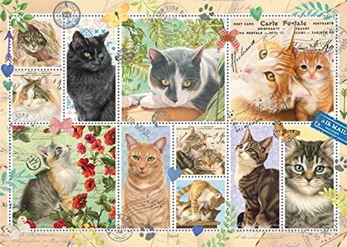 Puzzle Jumbo Colección de Sellos de Gatos de 1000 Piezas
