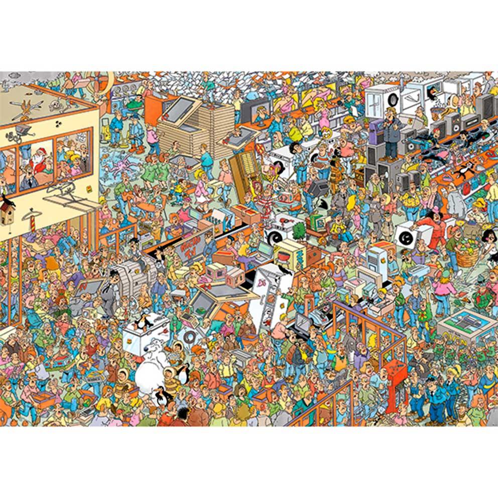 Puzzle Jumbo Compras en Vacaciones de 2 x 1000 Piezas