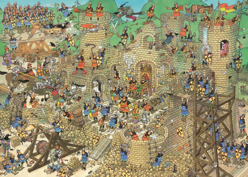 Puzzle Jumbo Conflicto en el Castillo de 1000 Piezas
