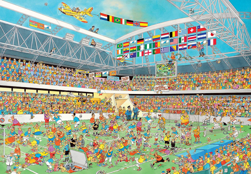 Puzzle Jumbo Crazy Football de 2000 Piezas