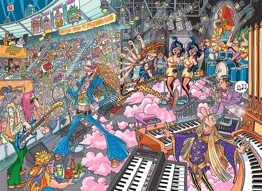 Puzzle Jumbo Destino los Viejos Rockeros de 1000 Piezas