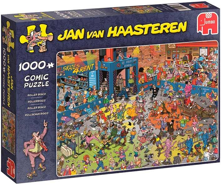 Puzzle Jumbo Discoteca en patines de 1000 Piezas