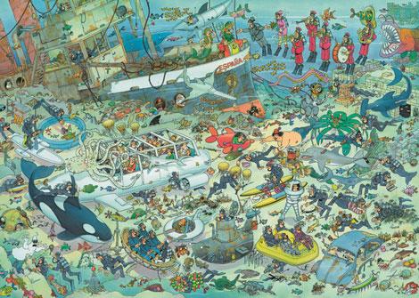 Puzzle Jumbo Diversion en el Fondo del Mar de 1000 Piezas