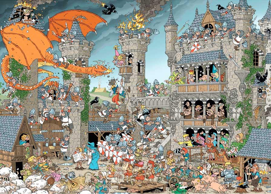 Puzzle Jumbo El Castillo de 1000 Piezas