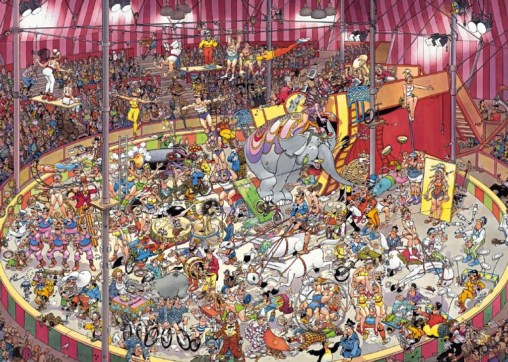 Puzzle Jumbo El Circo de 1000 Piezas