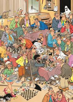 Puzzle Jumbo El Club de Ajedrez de 500 Piezas
