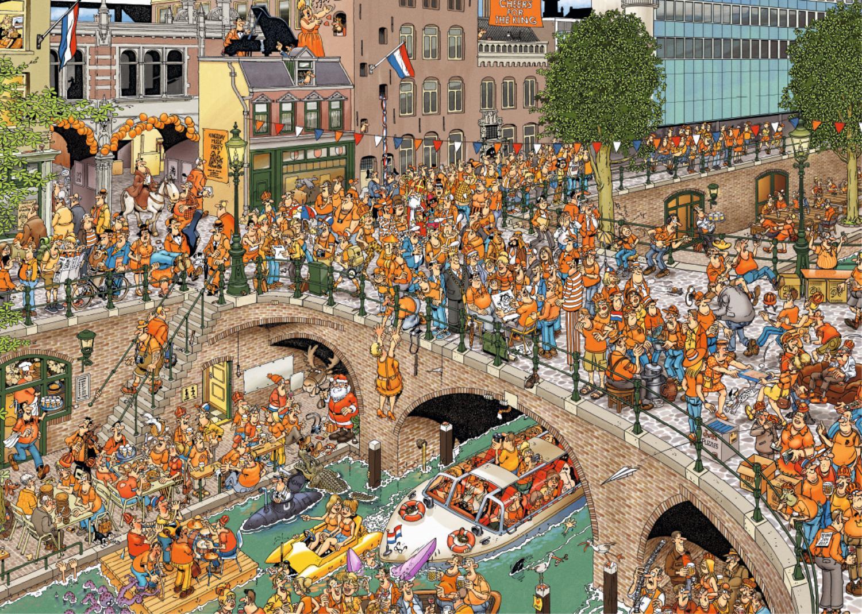 Puzzle Jumbo El Día del Rey de 1000 Piezas