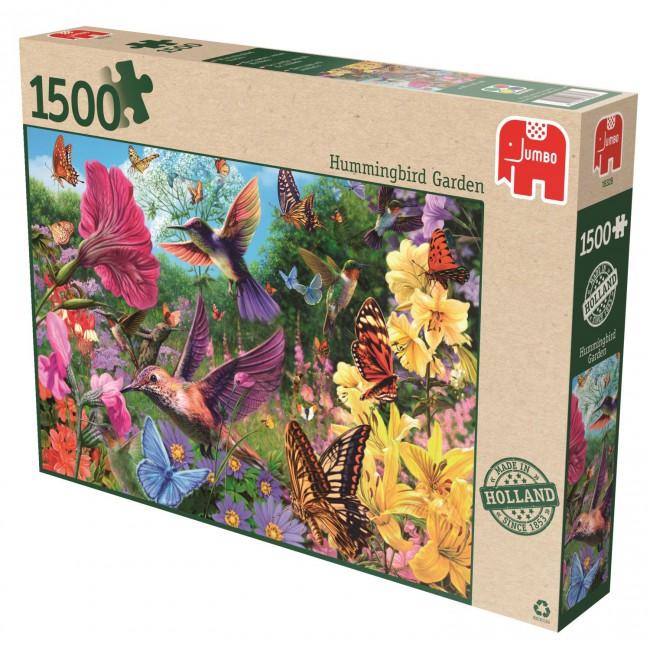 Puzzle Jumbo El Jardín de los Colibríes de 1500 Piezas