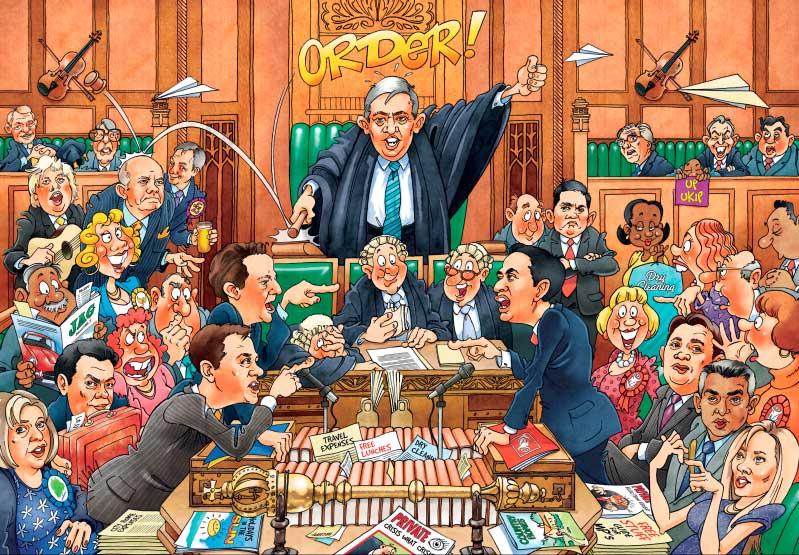 Puzzle Jumbo El Parlamento, Versión Demócrata de 1000 Piezas