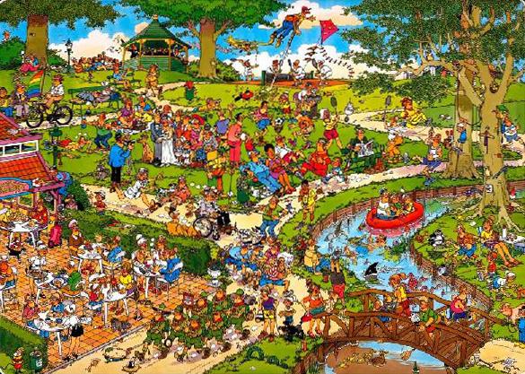Puzzle Jumbo El Parque de 1000 Piezas