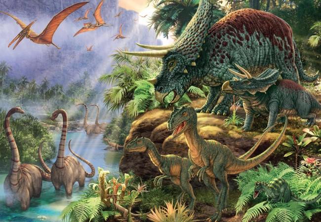 Puzzle Jumbo El Valle de los Dinosaurios de 1000 Piezas