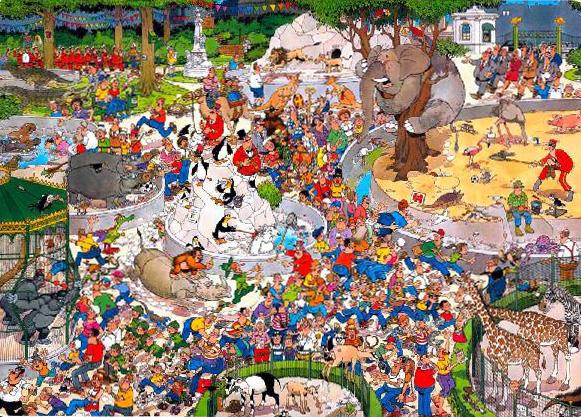 Puzzle Jumbo El Zoo de 1000 Piezas