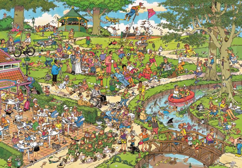 Puzzle Jumbo En el Parque de 3000 Piezas