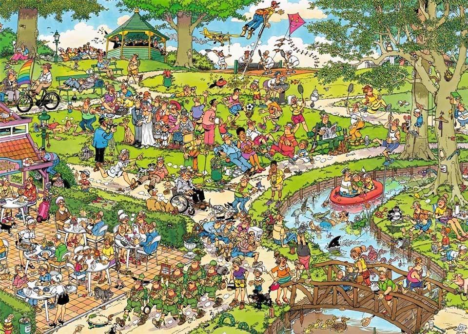 Puzzle Jumbo En el Parque de 500 Piezas XXL