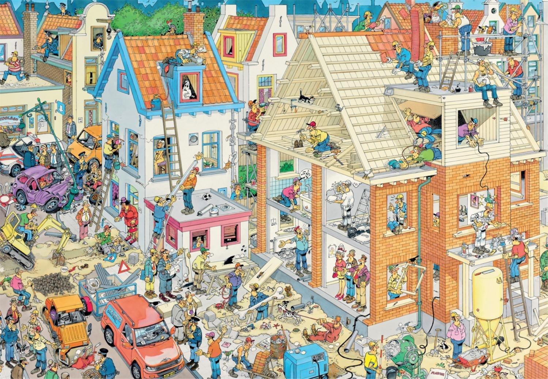 Puzzle Jumbo En la Obra de 1500 Piezas
