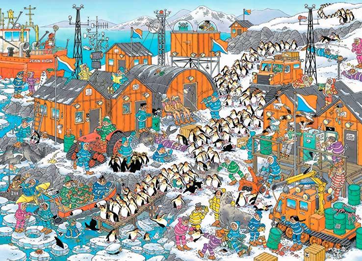 Puzzle Jumbo Expedición al Polo Sur de 1000 Piezas