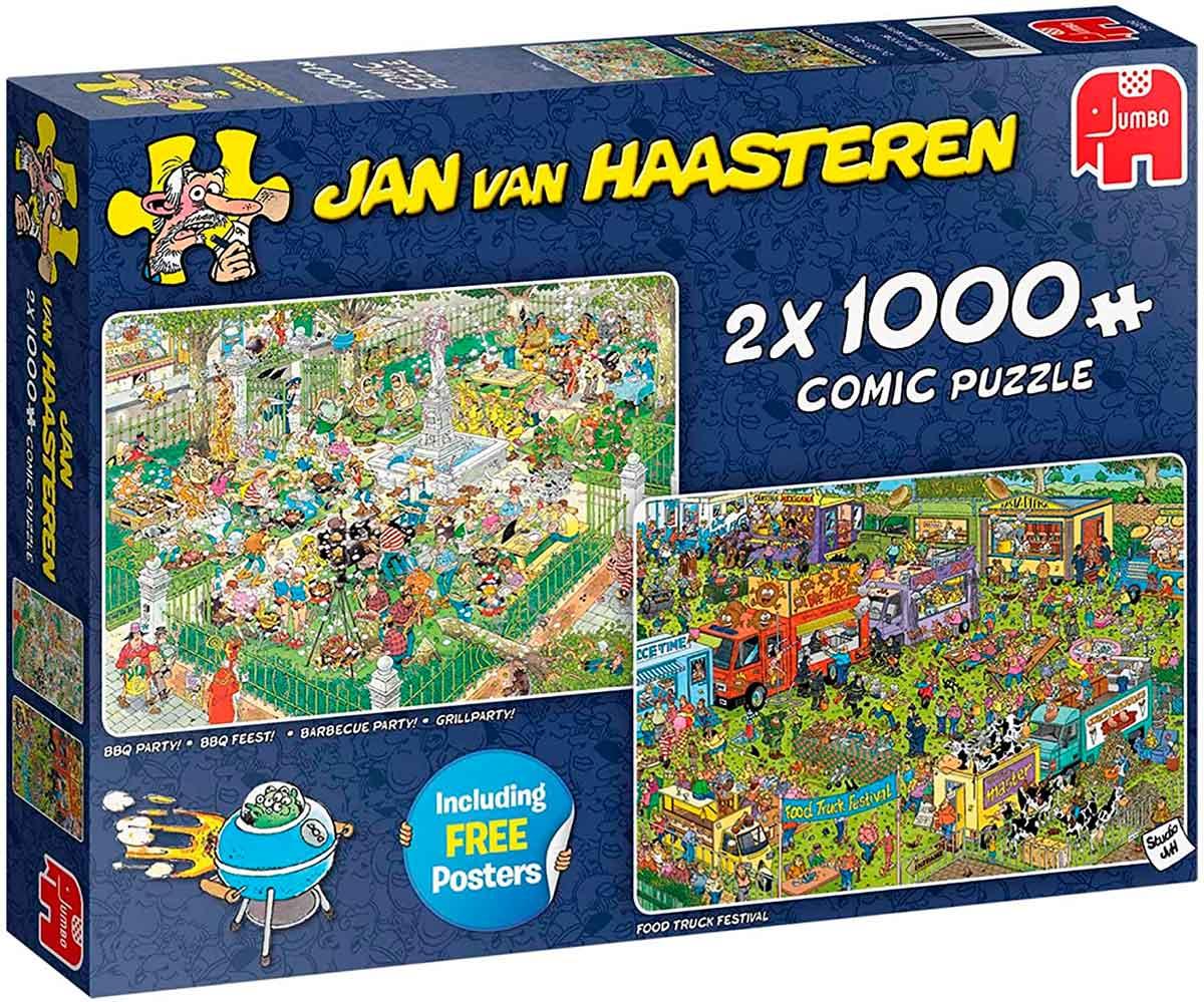 Puzzle Jumbo Festival de Comida de 2 x 1000 Piezas