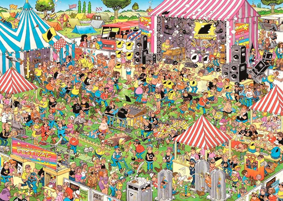 Puzzle Jumbo Festival Pop de 1000 Piezas