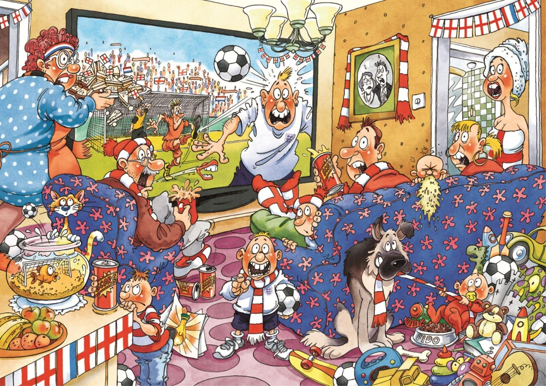 Puzzle Jumbo Fiebre por el Fútbol 2 x 1000 Piezas