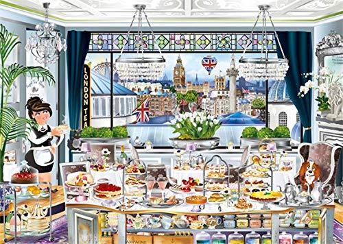 Puzzle Jumbo Fiesta del Té en Londres de 1000 Piezas