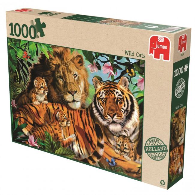 Puzzle Jumbo Felinos Salvajes de 1000 Piezas