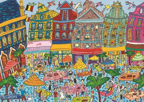 Puzzle Jumbo Gran Palacio de Bruselas de 1000 Piezas
