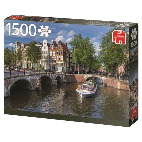 Puzzle Jumbo Herengracht, Amsterdam de 1500 Piezas