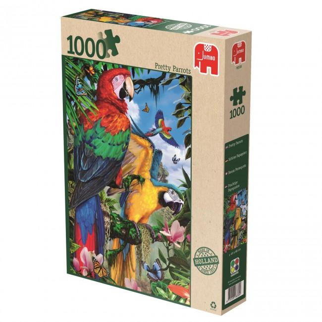 Puzzle Jumbo Hermosos Loros de 1000 Piezas