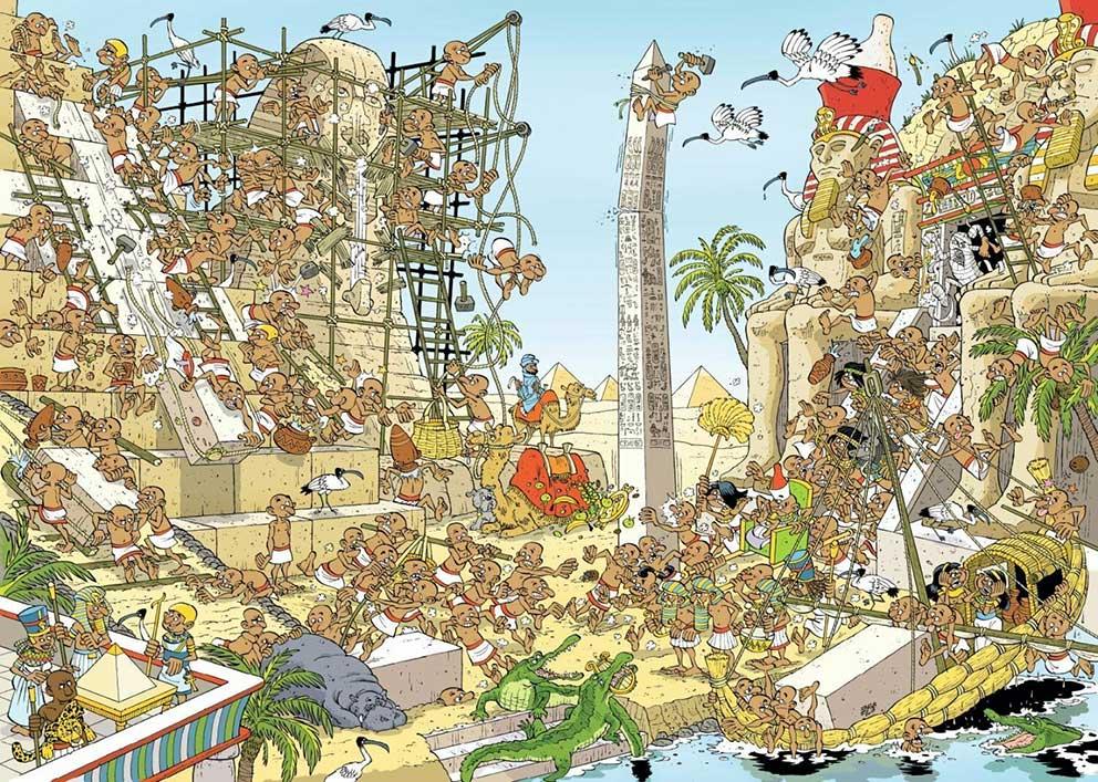 Puzzle Jumbo Historias de Egipto de 1000 Piezas