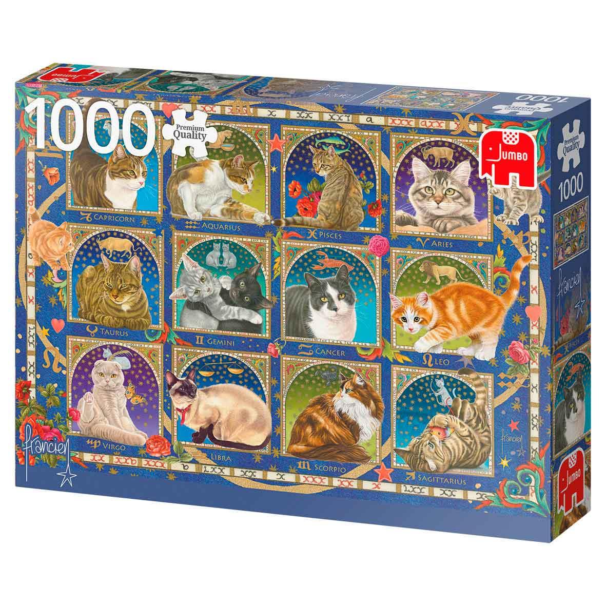 Puzzle Jumbo Horóscopo de Gatos de 1000 Piezas