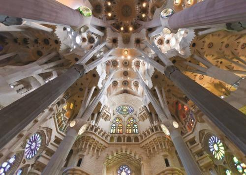 Puzzle Jumbo Interior de la Sagrada Familia de 1000 Piezas