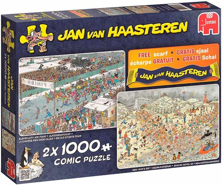 Puzzle Jumbo Invierno Divertido de 2 x 1000 Piezas