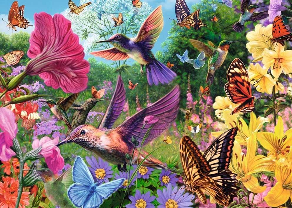Puzzle Jumbo Jardín de Colibríes de 500 Piezas XXL