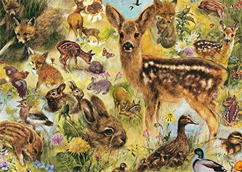 Puzzle Jumbo Jóvenes Animales Salvajes 1000 Piezas