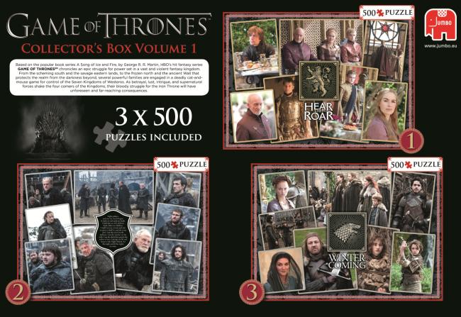 Puzzle Jumbo Juego de Tronos Colección 1 de 3 x 500 Piezas