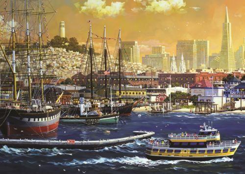 Puzzle Jumbo La Bahía del Puerto de San Francisco de 1000 Piezas