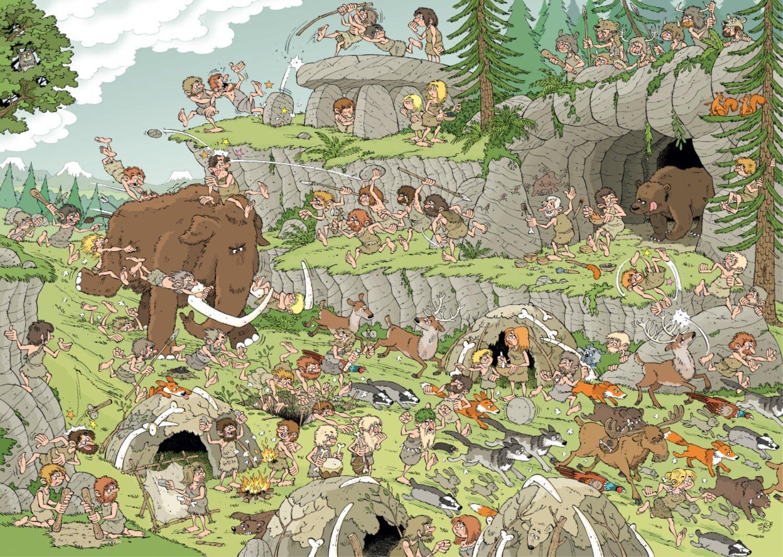 Puzzle Jumbo La Edad de Piedra de 500 Piezas