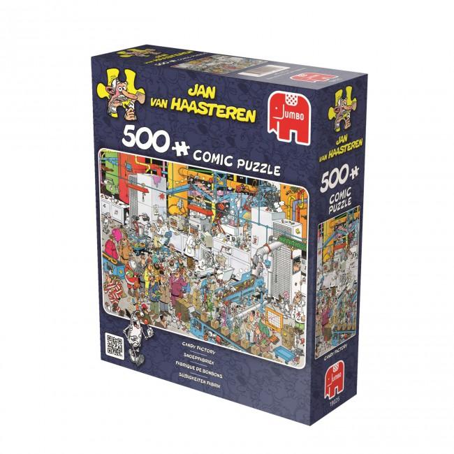 Puzzle Jumbo La Fábrica de Caramelos de 500 Piezas