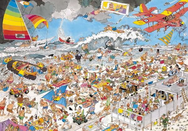 Puzzle Jumbo La Playa de 1000 Piezas