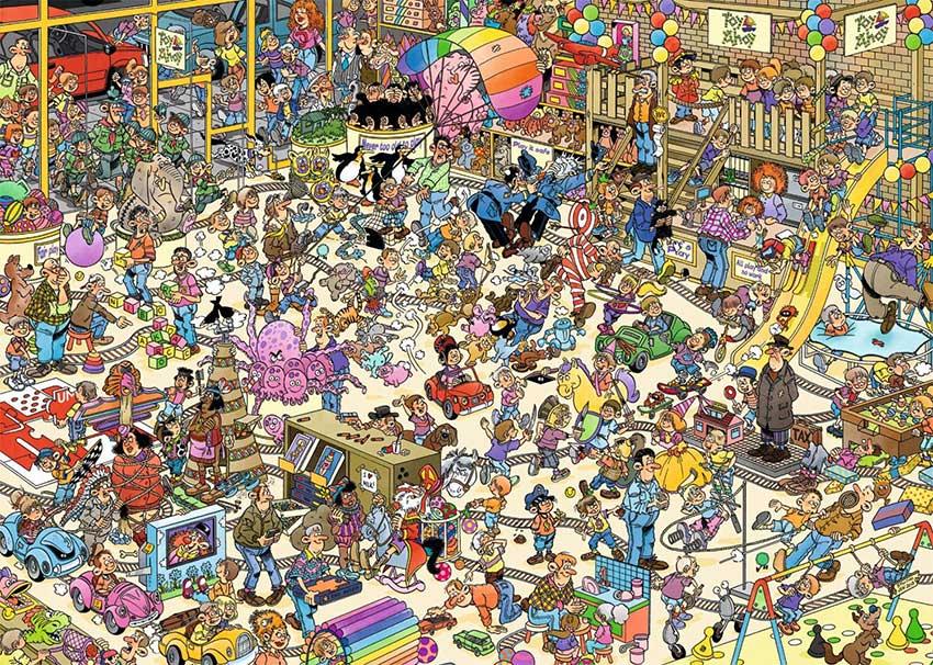 Puzzle Jumbo La Tienda de Juguetes de 1000 Piezas