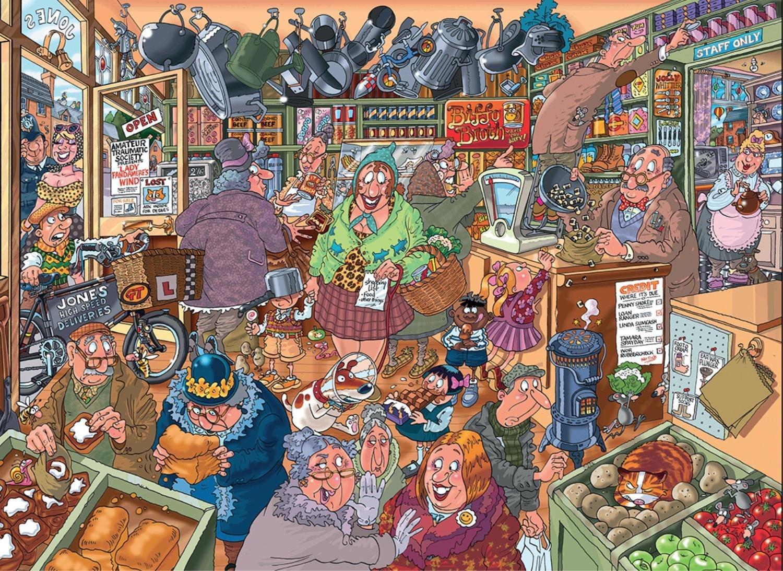 Puzzle Jumbo La Tienda de Ultramarinos de 1000 Piezas