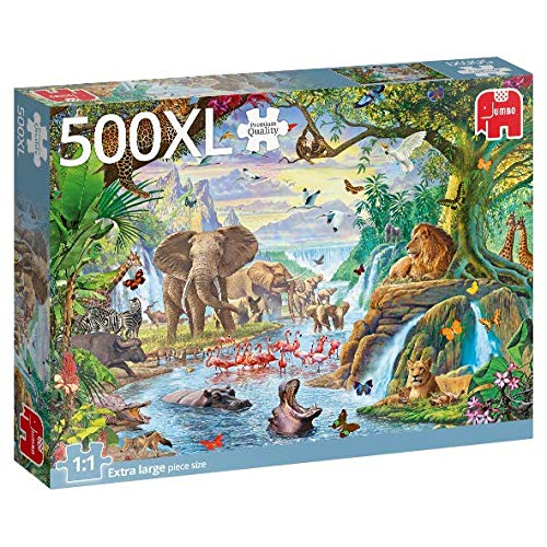Puzzle Jumbo Lago en la Jungla de 500 Piezas XXL