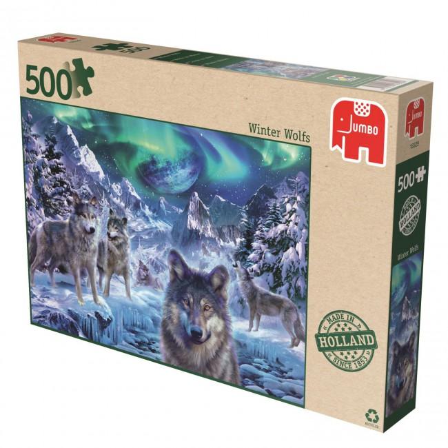 Puzzle Jumbo Lobos de Invierno de 500 Piezas