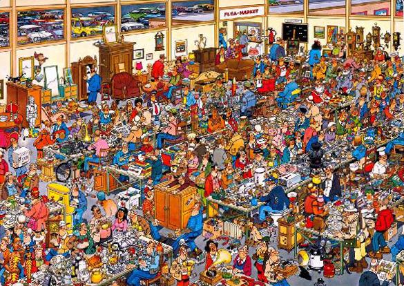 Puzzle Jumbo Los Anticuarios de 1000 Piezas