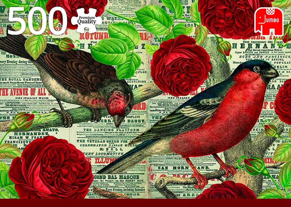 Puzzle Jumbo Los Pájaros Aman las Flores de 500 Piezas