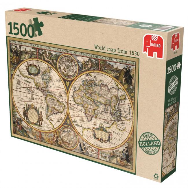 Puzzle Jumbo Mapa del Mundo 1630 de 1500 Piezas