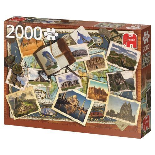 Puzzle Jumbo Maravillas del Mundo de 2000 Piezas
