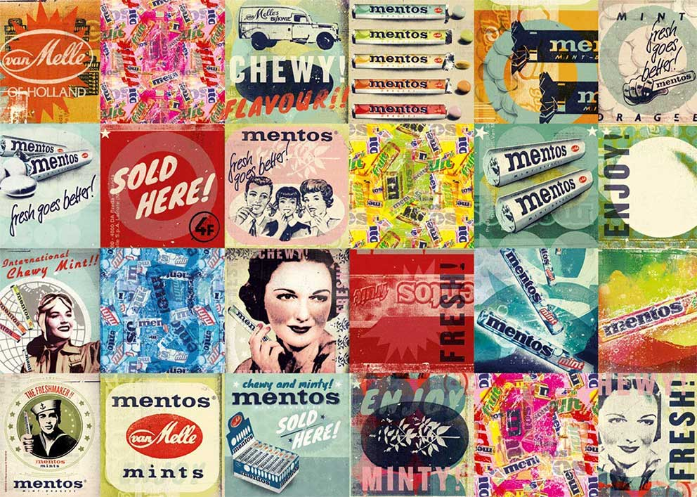 Puzzle Jumbo Mentos Vintage 1000 Piezas